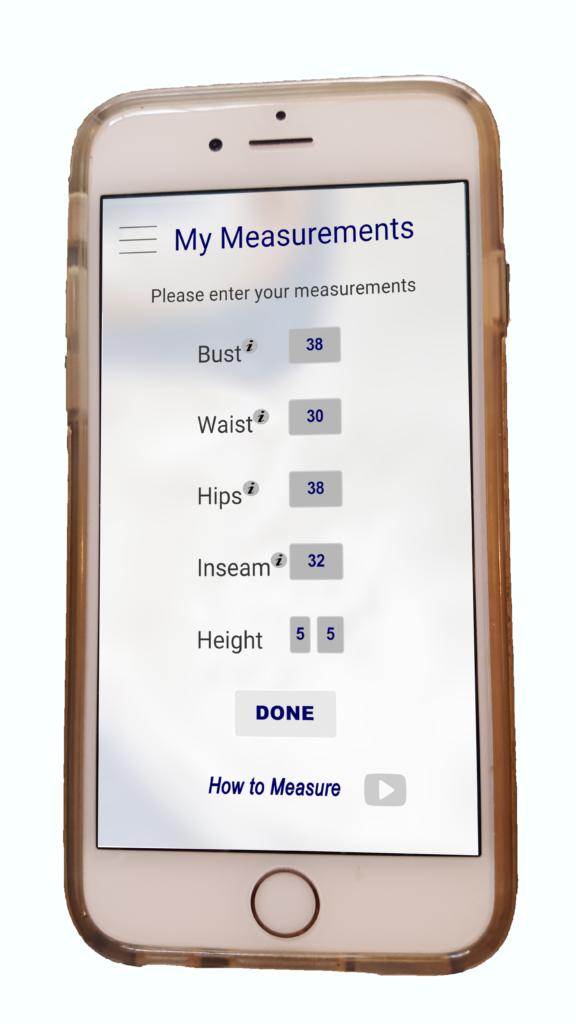 enter measurements web